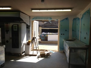 Ladywood House - as work commenced