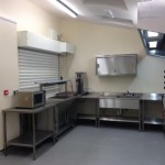 completed church kitchen