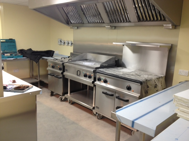 Leicester Racecourse Kitchen INstall