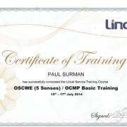Lincat Service Training Certificate
