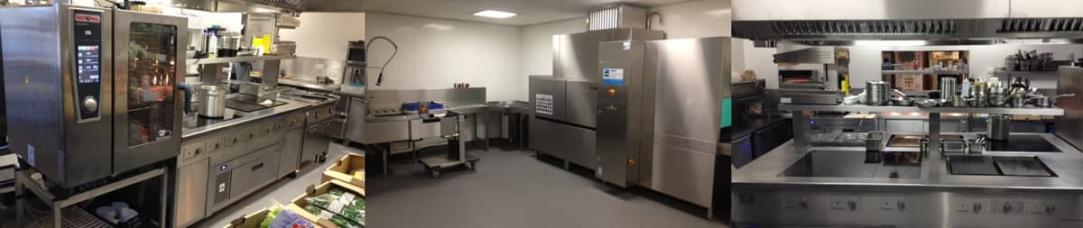 Commercial kitchen equipment maintained by Tower Commercial Catering